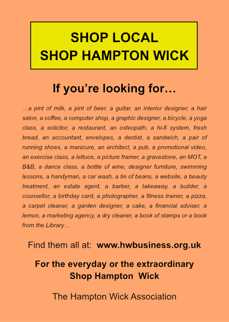 Shop Local, Shop Hampton Wick